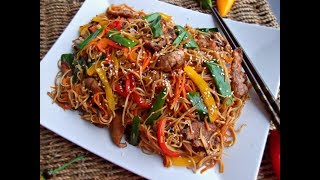 চিকেন চাউমিন || Bangladeshi Chinese Restaurent style  Chicken Chow mine Noodles Recipe