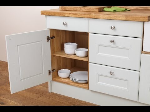 Solid Wood Kitchen Cabinets Online Review - YouTube