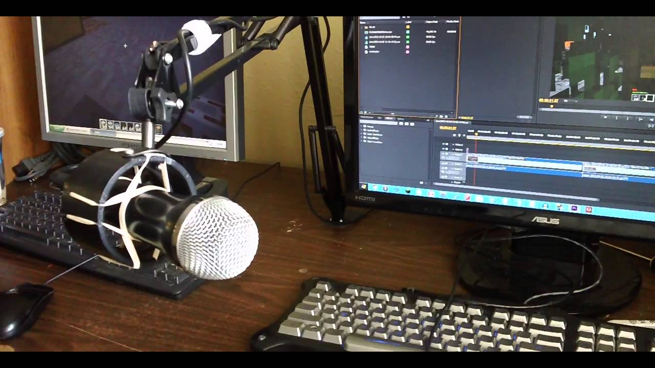 DIY Desk Lamp Mic Boom Conversion With Shock Mount YouTube - Desk boom mic stand