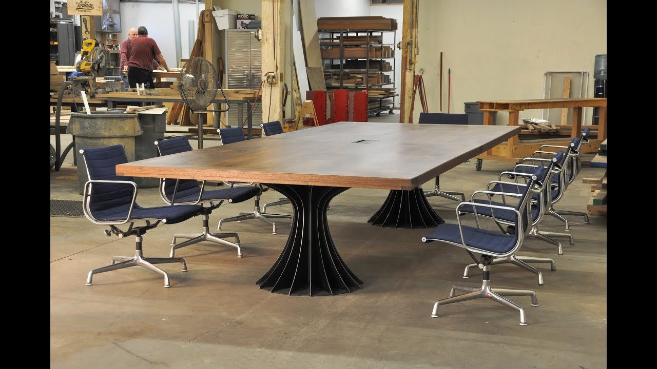 vintage industrial conference tables youtube. Black Bedroom Furniture Sets. Home Design Ideas
