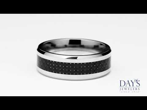 Benchmark Mens Wedding Band in Cobalt Chrome (8mm)