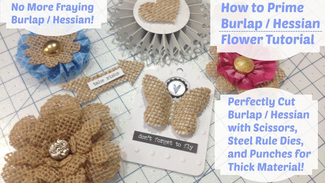 Diy how to stiffen burlap burlap flower tutorial youtube diy how to stiffen burlap burlap flower tutorial izmirmasajfo