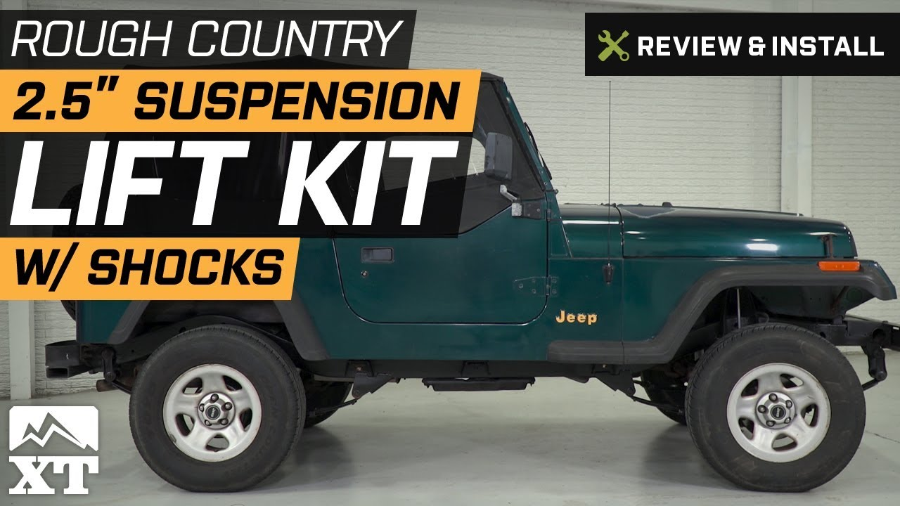 Jeep Lift Kits >> Rough Country 2 5 In Suspension Lift Kit W Shocks 87 95 Jeep Wrangler Yj