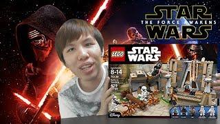 ต่อเลโก้ Star Wars 7 ไคโรเรนถล่มปราสาท【LEGO: Battle on Takodana】