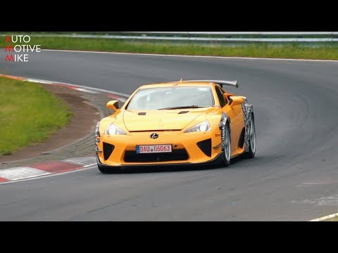 WHAT IS LEXUS TESTING WITH THIS WIDEBODY LFA AT THE NÜRBURGRING?