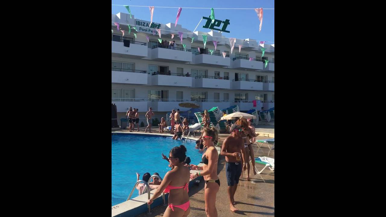 jet apartments ibiza july 2016 ! pool party madness! - youtube