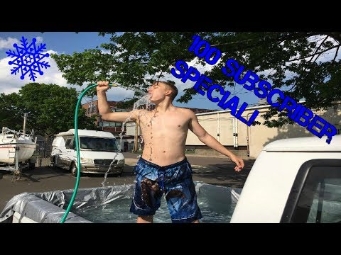 PICK UP TRUCK ICE BATH GIANT ICE BUCKET CHALLENGE! | 100 SUBSCRIBER SPECIAL