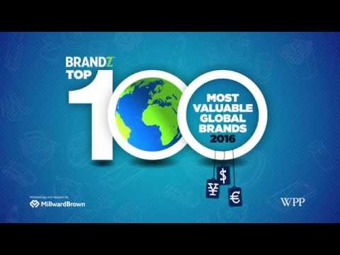 BrandZ 100 Most Valuable Global Brands 2016 | Top 20 Fastest Risers 2016 Countdown