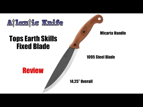 Tops Earth Skills Fixed Blade Knife Review | Atlantic Knife Reviews 2020