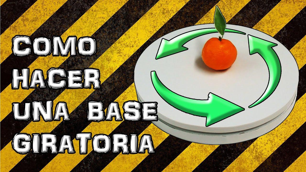 Como hacer una base o tabla giratoria casera experimentar - Mesa de centro giratoria ...