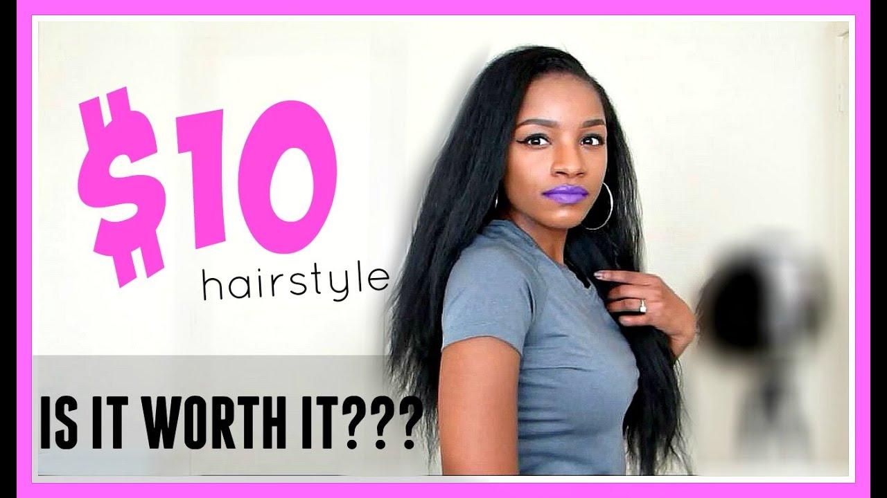 My 10 Kinky Straight Hairstylequick Update Youtube