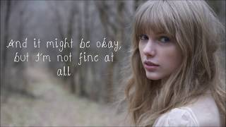 Repeat youtube video All Too Well - Taylor Swift Grammys 2014 performance Lyric Video