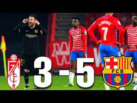 Download Granada vs Barcelona 3-5  All goal highlights & English commentary!! 2021 HD