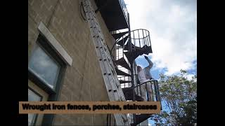 Chicago painter. Windy Painters. Drywall repair. Wallpaper. Condominium painting. Iron fence. Porch.