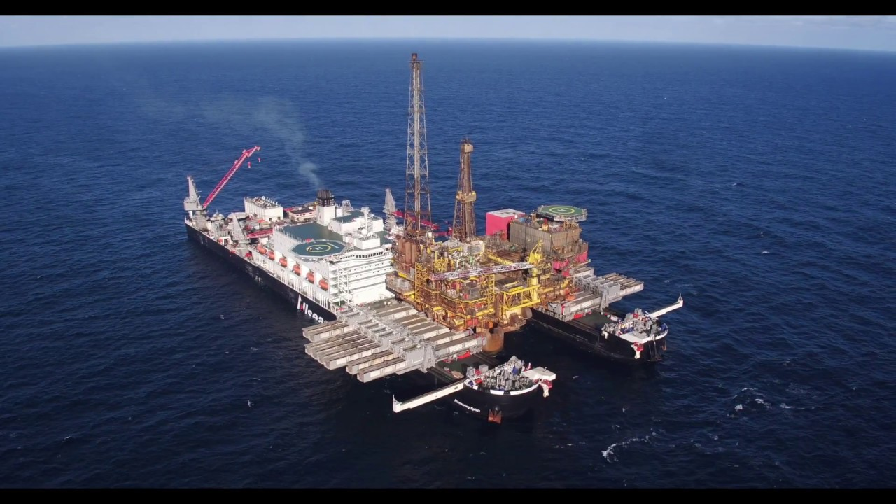 Allseas Pioneering Spirit removing Brent Delta topsides 1080p