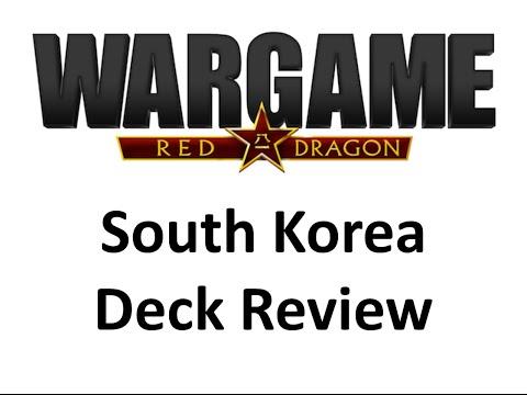 Wargame Red Dragon - South Korea Deck Review