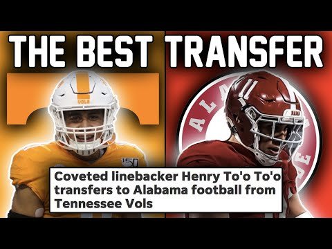 Alabama Landed THE BEST TRANSFER in College Football For 2021 (Henry To'oto'o Commits)