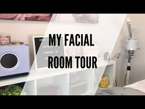 Esthetician Facial Room Tour | Home Business