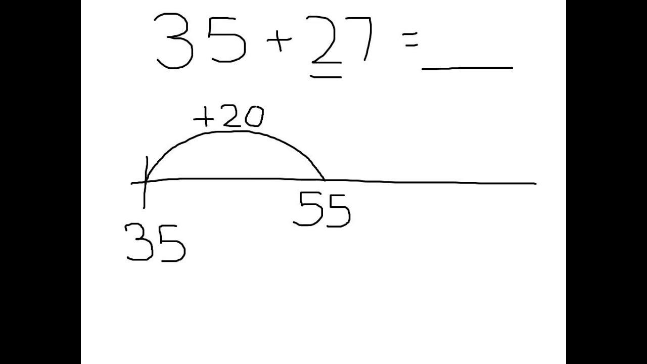 worksheet Adding On A Number Line adding double digit numbers on a number line with bridging youtube bridging