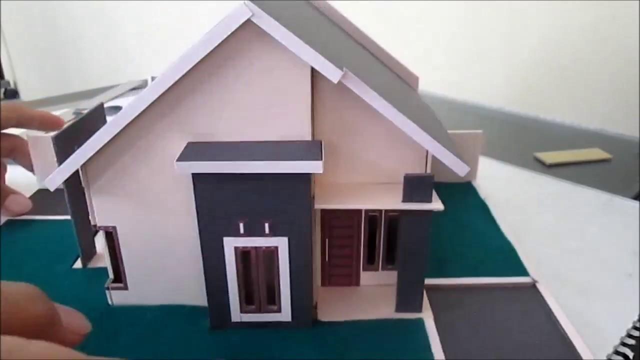 Cara Membuat Miniatur Rumah Sederhana Type 45 - YouTube