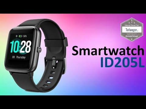 ID205L Smartwatch - H205L - Fitpolo 205L - Montre Connectée IP67 - Veryfit Pro - Unboxing