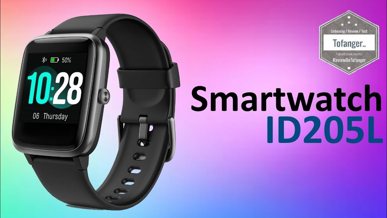 Id205l Smartwatch H205l Fitpolo 205l Montre Connectée Ip67 Veryfit Pro Unboxing Youtube