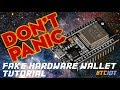 BTCIOT Tutorial - How to make a cheap bitcoin panic button/fake wallet using an ESP32