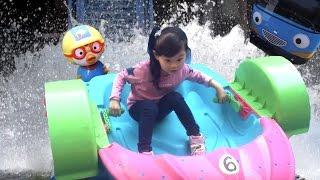 라임이의 어린이 보트 타기 장난감 놀이& 뽀로로 케이크&타요 키즈카페 LimeTube & Toy 라임튜브