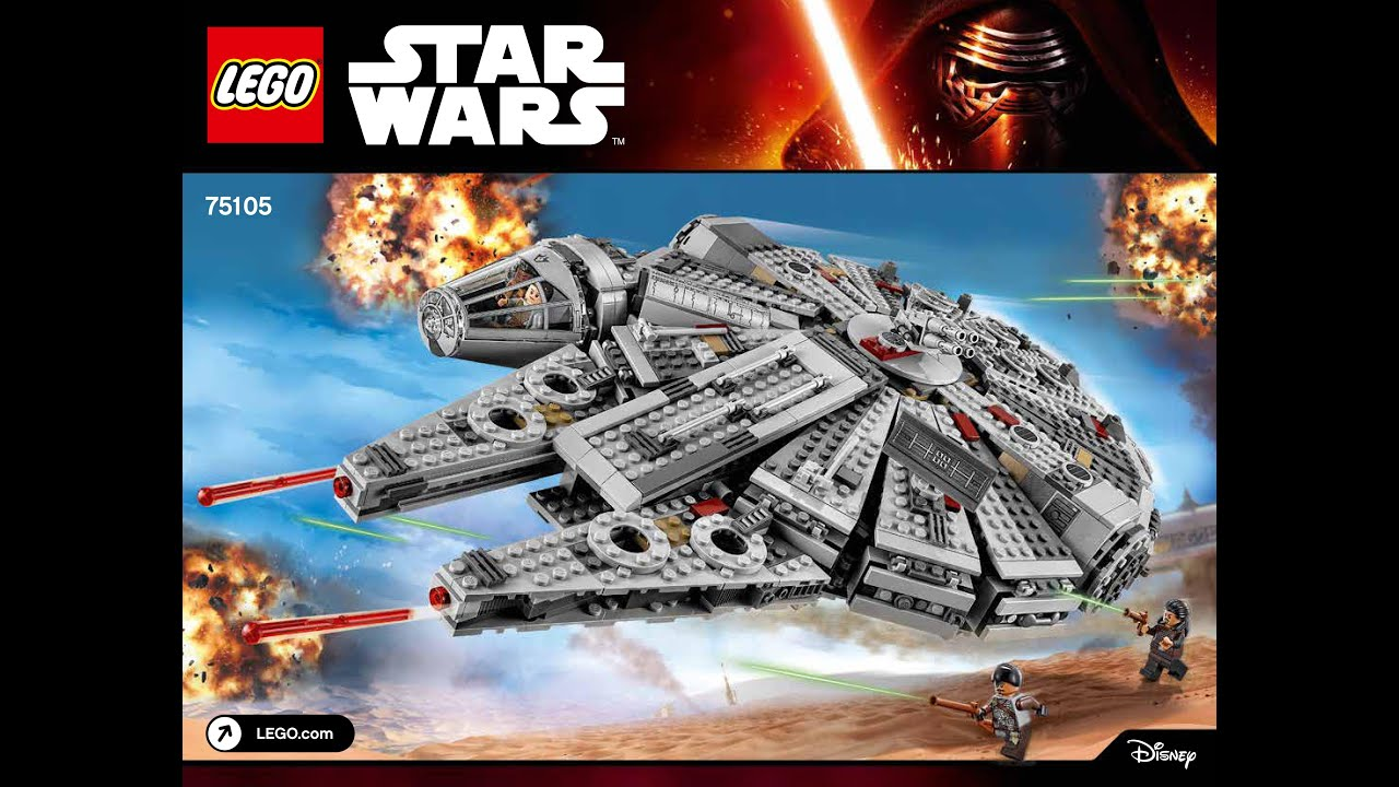 LEGO Star Wars Millennium Falcon 75105 Building Kit Instructions DIY - YouTube
