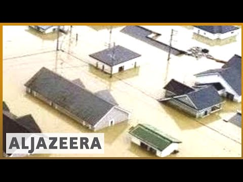 ???????? Japan floods: Death toll rises as PM warns of 'race against time' | Al Jazeera English