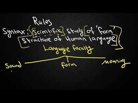 SYNTAX-1: Types of Grammars and Locating Syntax within Linguistics