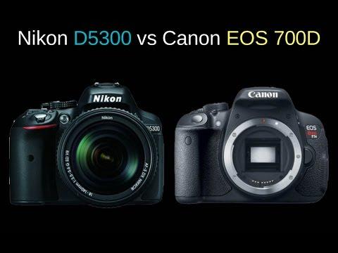 Nikon D5300 vs Canon EOS 700D