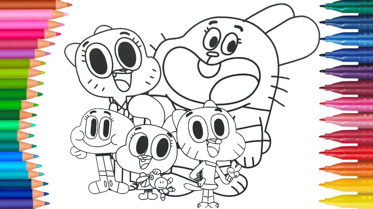 Gumballa Jak Narysowac Malych Raczek Kolorowanka Dla Dzieci