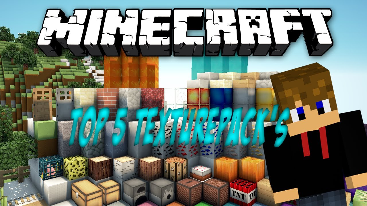 Minecraft Top 5 Texture Pack's 1.5.2 - YouTube
