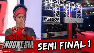Musthafa 'Kesulitan & Terpeleset Di Monkey Peg' [Sasuke Ninja Warrior Indonesia] [27 Mar 2016]