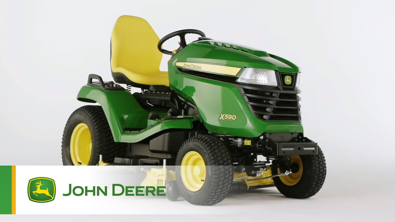 john deere rasentraktor x590 youtube. Black Bedroom Furniture Sets. Home Design Ideas