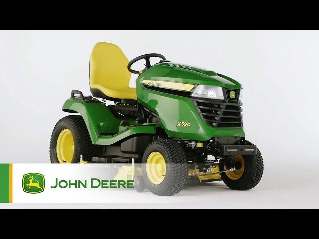 John Deere Rasentraktor X590