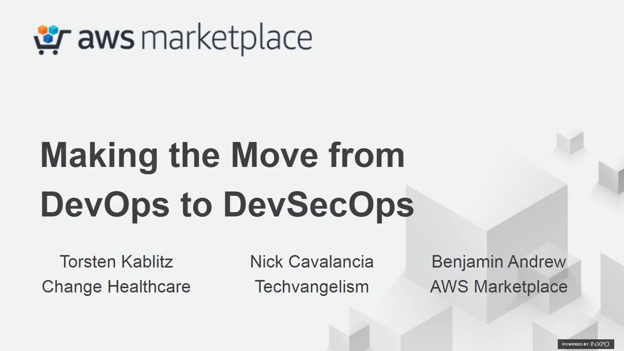 Download AWS Marketplace Webinar 3/23/18: Making the Move to DevSecOps from DevOps