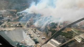Пожар Турция Корабурун  13 июня 2016 Бурундайавиа