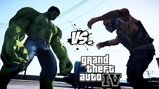 HULK VS BANE - EPIC BATTLE - GRAND THEFT AUTO IV