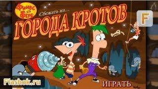 Flashok ru: Видео обзор игры Phineas and Ferb. Финес и Ферб: Сбежать из города кротов