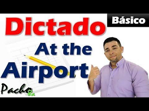 dictado-básico-en-presente-simple---at-the-airport-+-vocabulario
