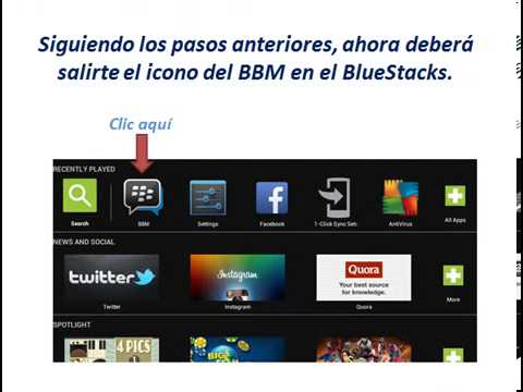 BlackBerry messenger para PC BlueStacks