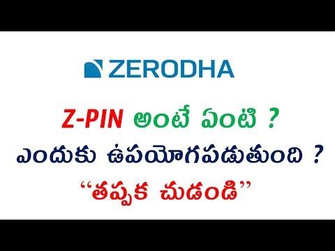 What is Zpin in Zerodha   Z-PIN అంటే ఏంటి ? ఎందుకు ఉపయోగపడుతుంది ?