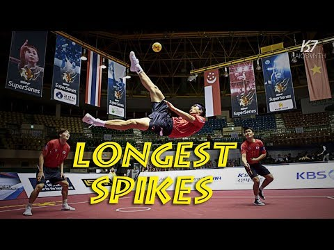Sepak Takraw ● Crazy Longest Spikes Compilation | HD