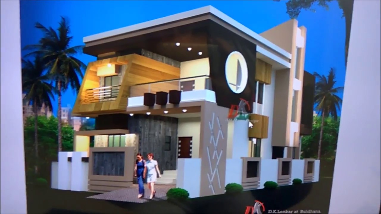 2 STORY MODERN HOUSE PLAN AND 3D ELEVATION YouTube