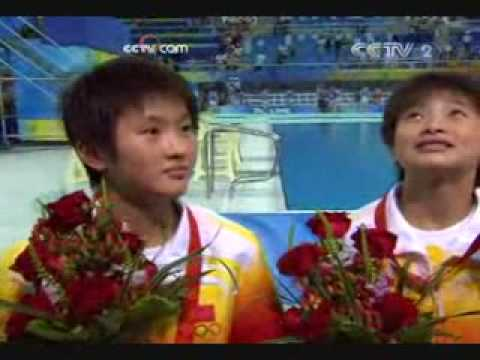 2008 diving beijing 10m platform women post-competition interview