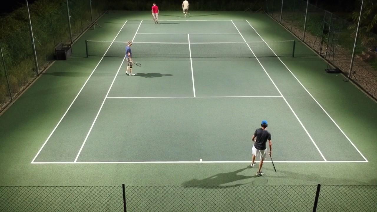 Diy Tennis Court Lighting Drone Footage