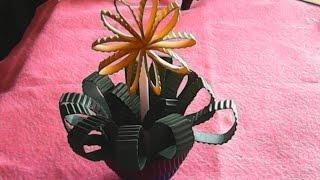 DIY-kerajinan tangan-bunga kardus-hand-crafted flower boxes