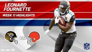 Leonard Fournette's 28 Carries & 111 Rushing Yards! | Jaguars vs. Browns | Wk 11 Player Highlights